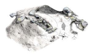 Relevé photogrammétrique de l'allée couverte des Tabernaudes - mairie - L'Ile d'Yeu