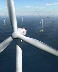 Représentation de l'éolienne AREVA de 8MW